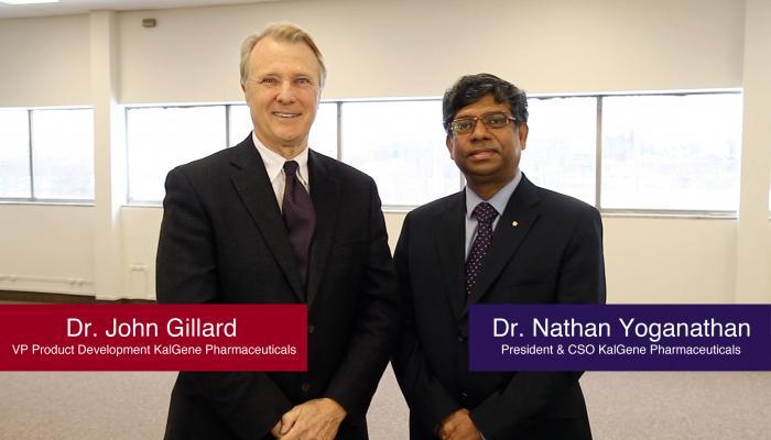 Dr. John Gillard and Dr. T. Nathan Yoganathan, KalGene Pharmaceuticals